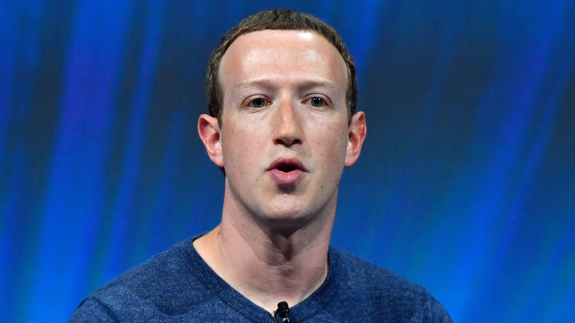 Mark Zuckerberg looks confused while speaking