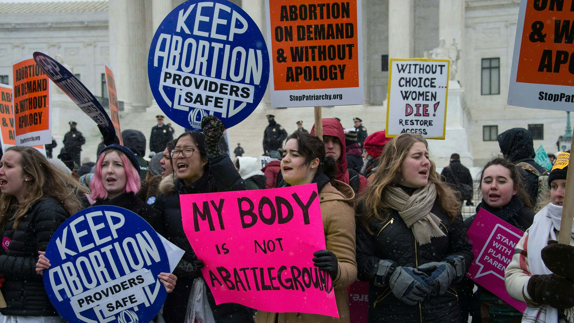 Pro-abortion protesters in Washington, D.C.
