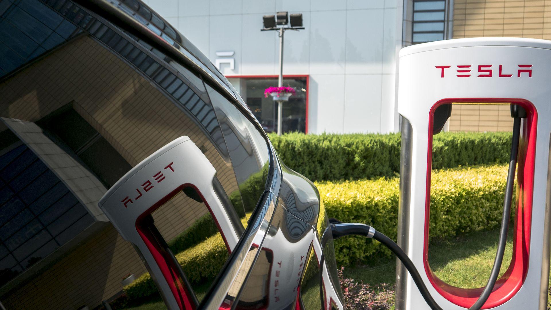 Tesla car charging