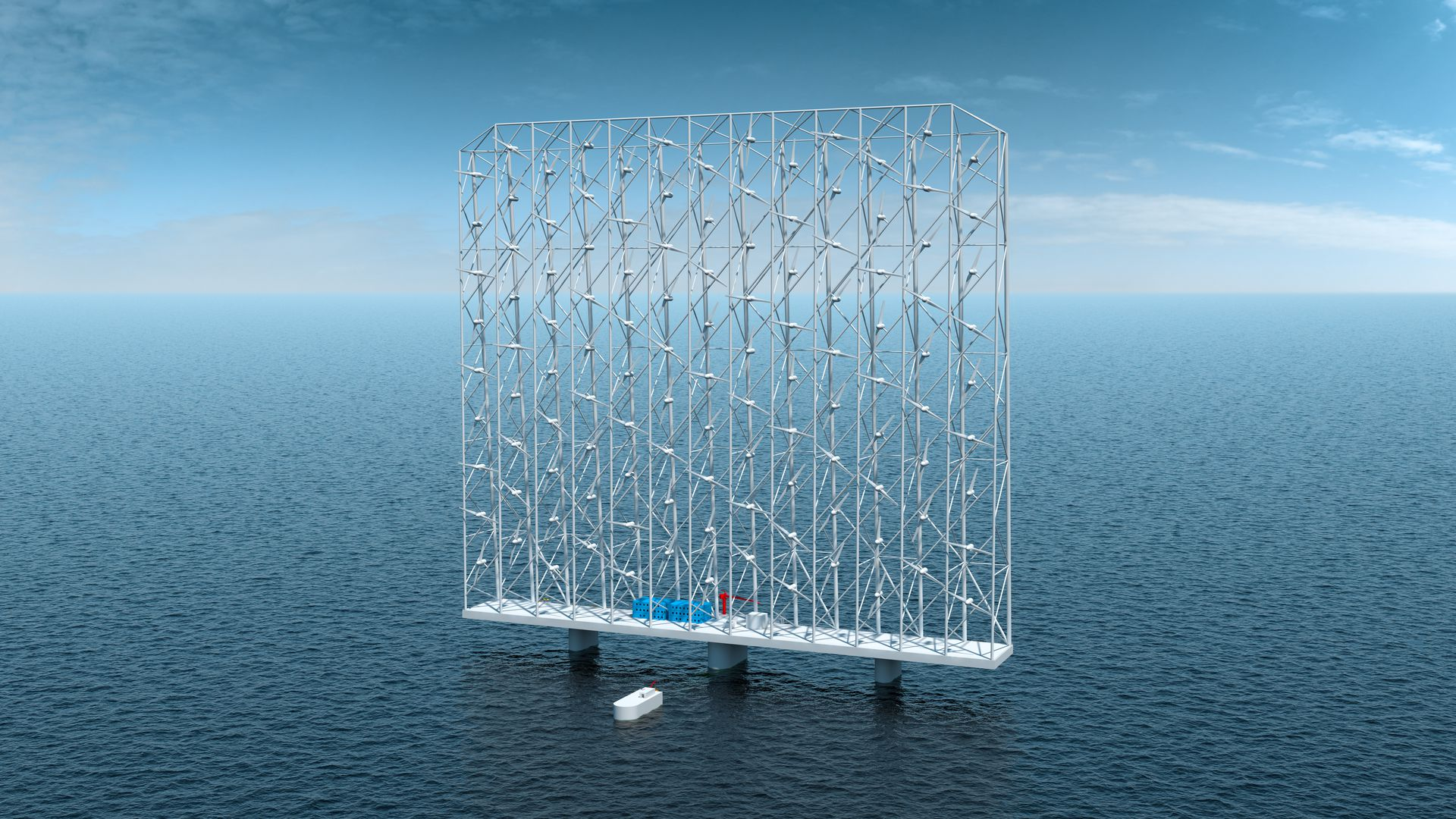 Image of Wind Catching Systems' floating network of wind turbines