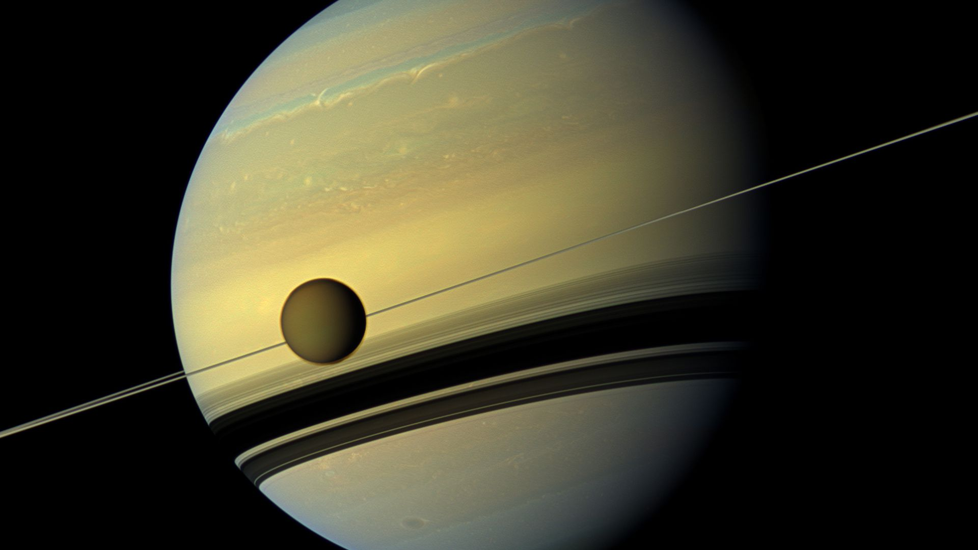 Titan, near Saturn