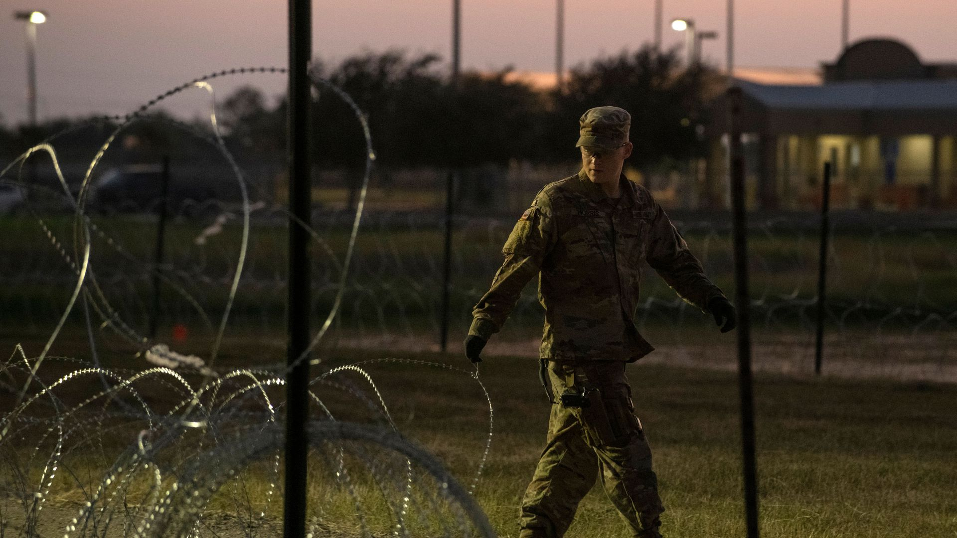 U.S. soldier at the border