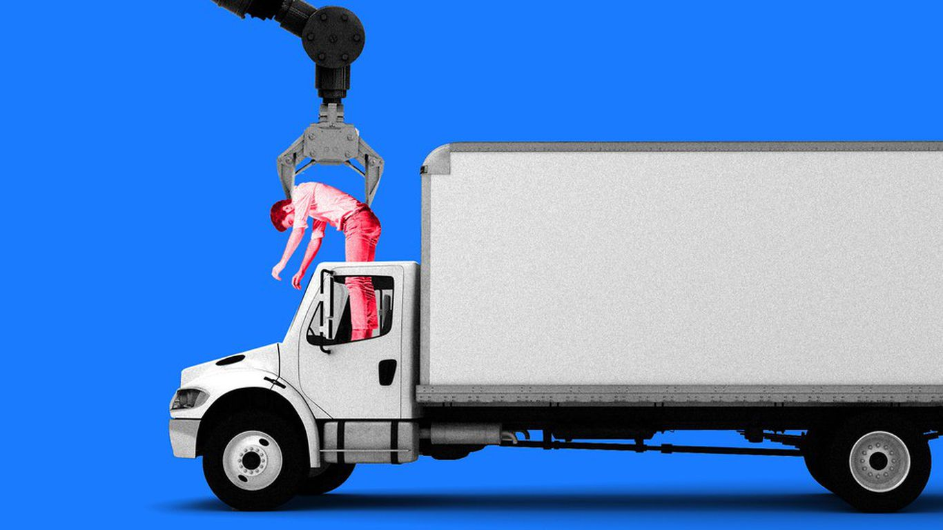 Truck driving jobs could be first casualty of self-driving cars - Axios