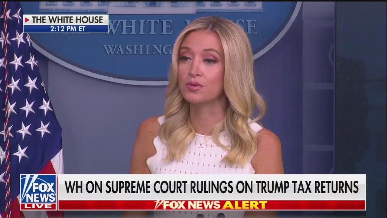 Kayleigh McEnany says Trump's tax returns are still under audit