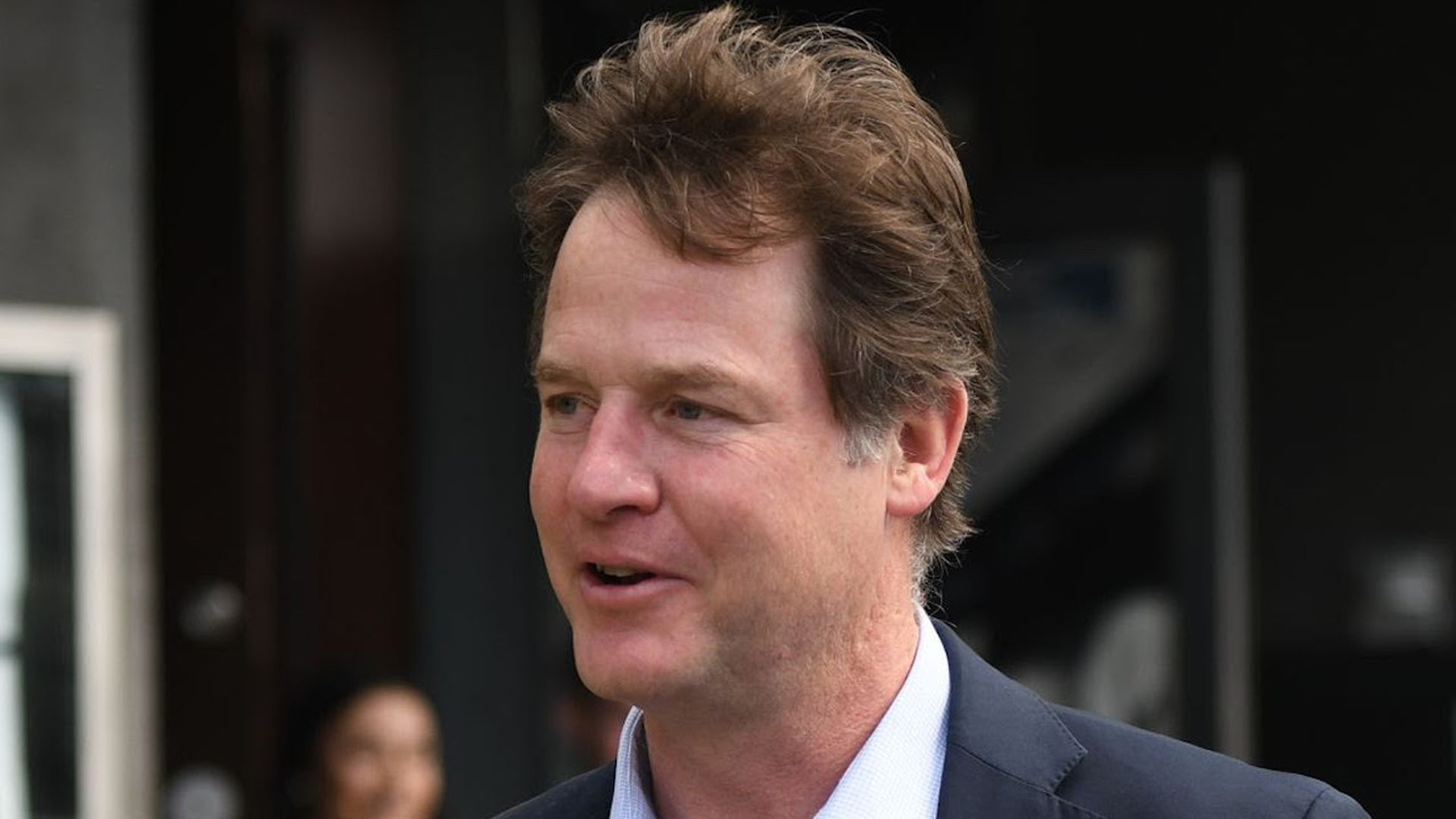 Nick Clegg in Dublin in April