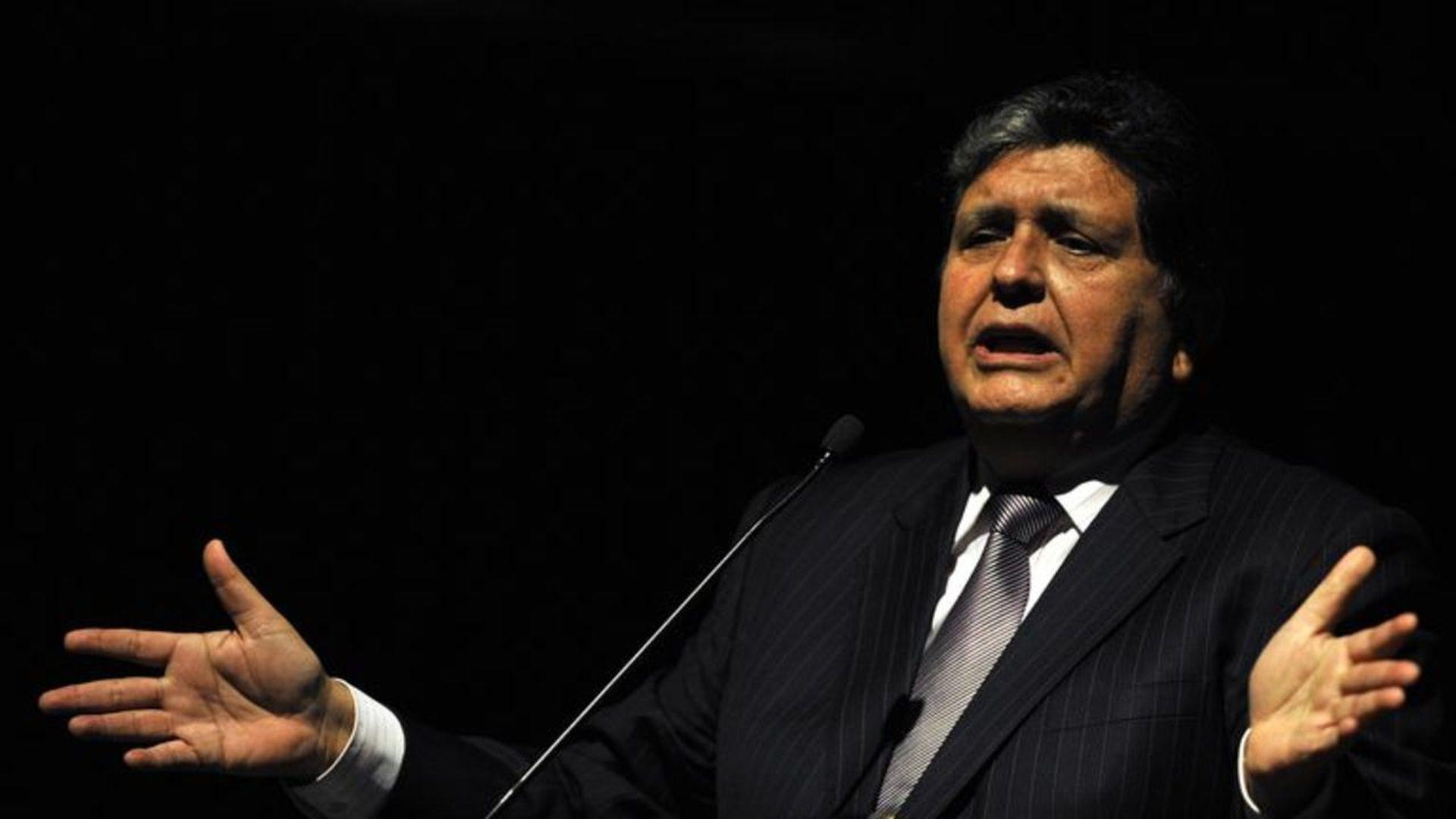 Peru's former President Alan García. LUIS ROBAYO/AFP/Getty Images