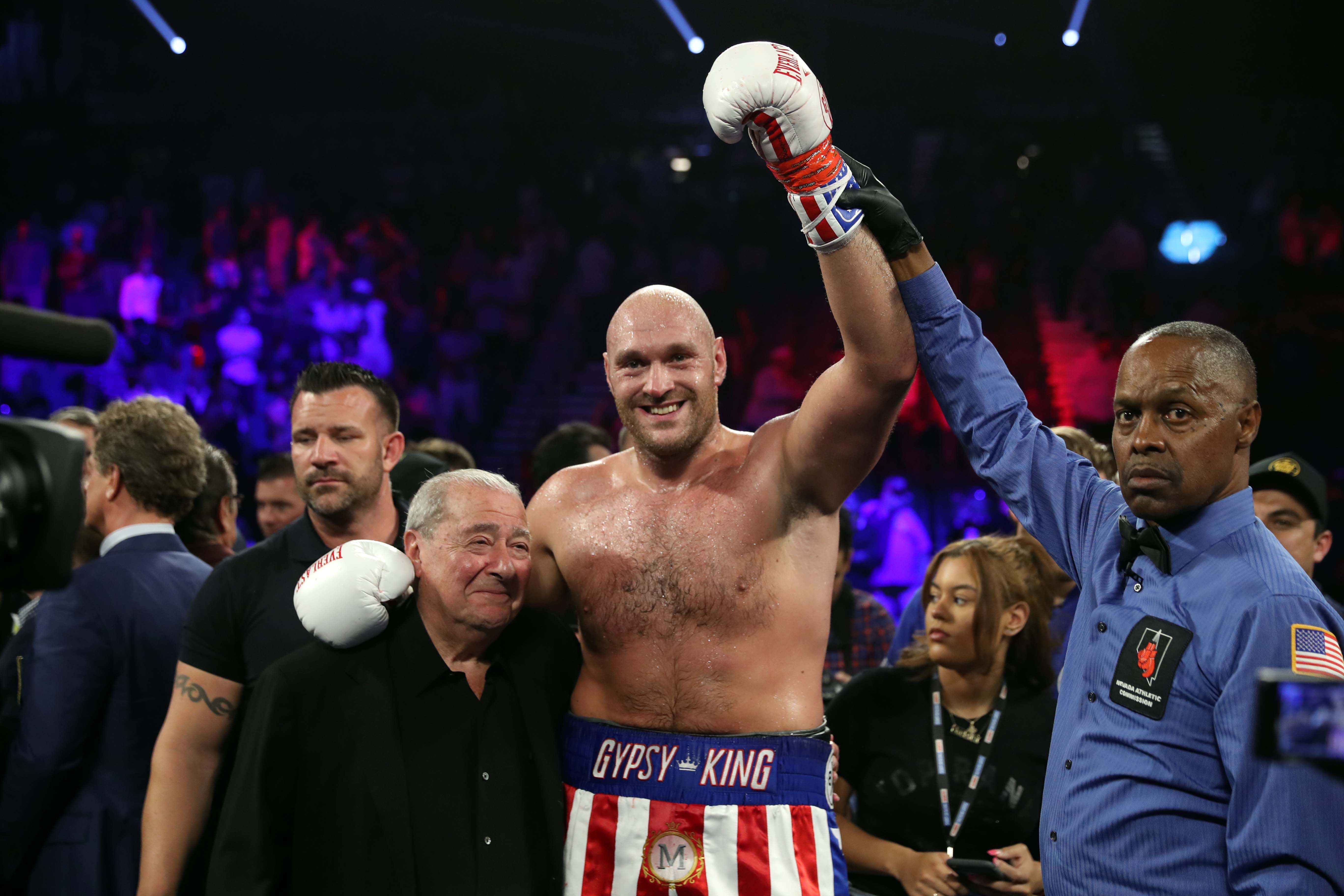Tyson Fury after winning