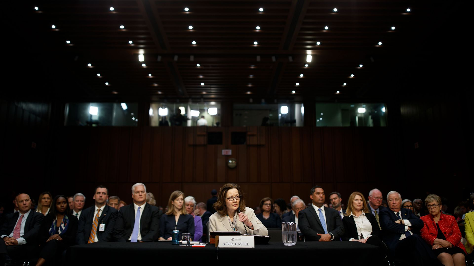 Gina Haspel at her confirmation hearing.