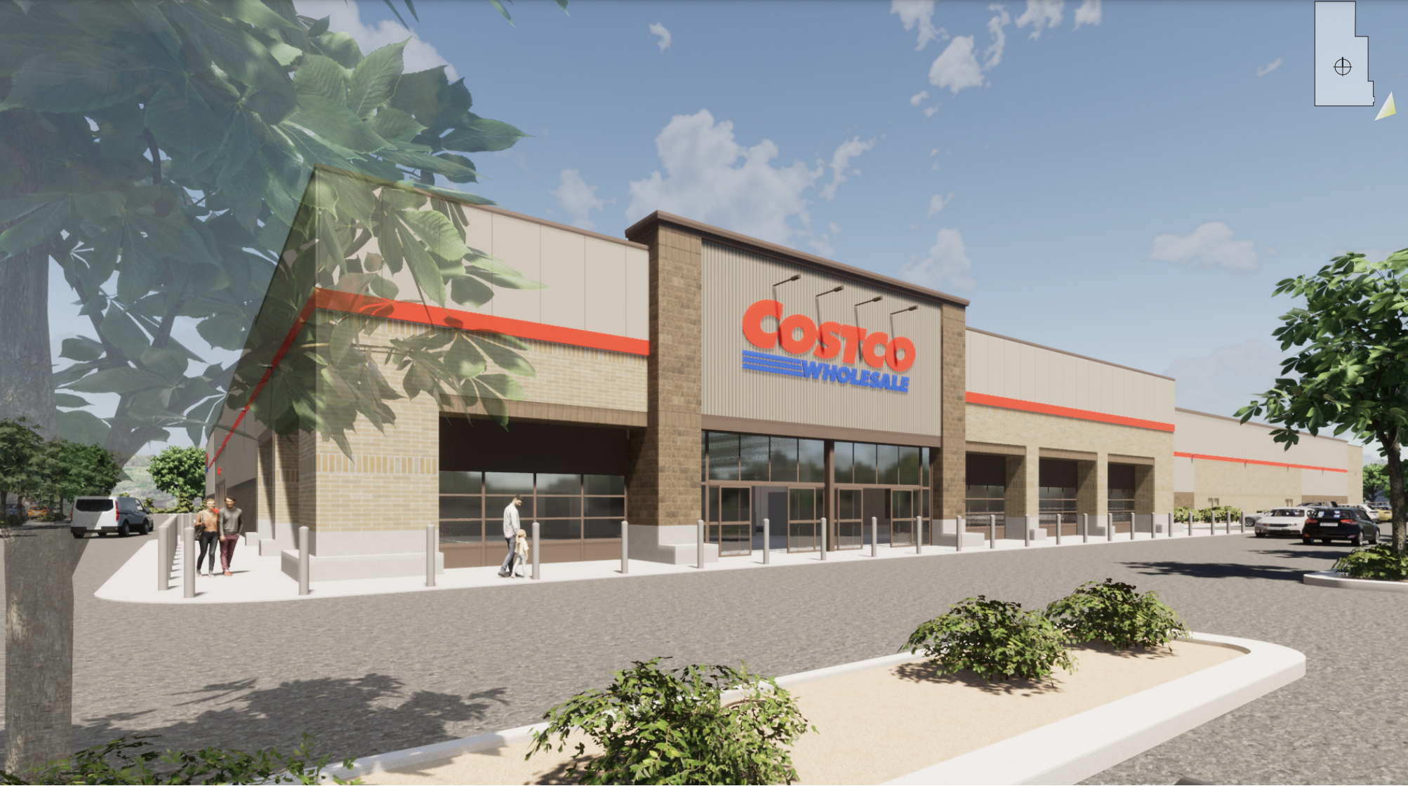 rendering of a costco storefront