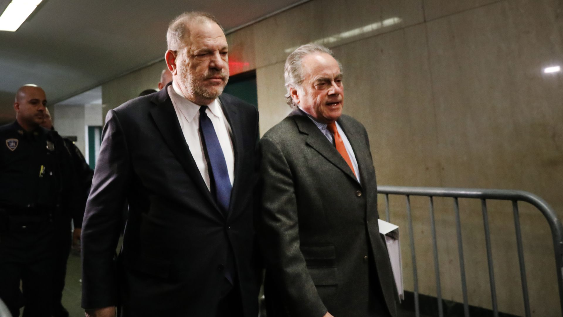 Harvey weinstein with his attorney