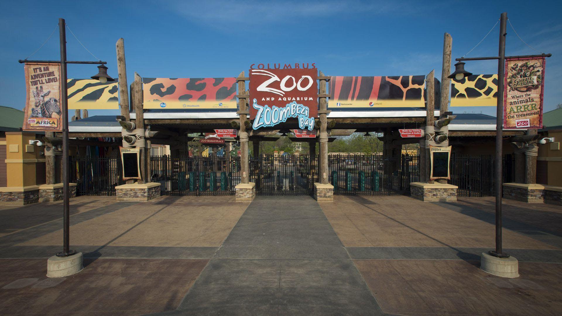 The Columbus Zoo and Aquarium entrance.