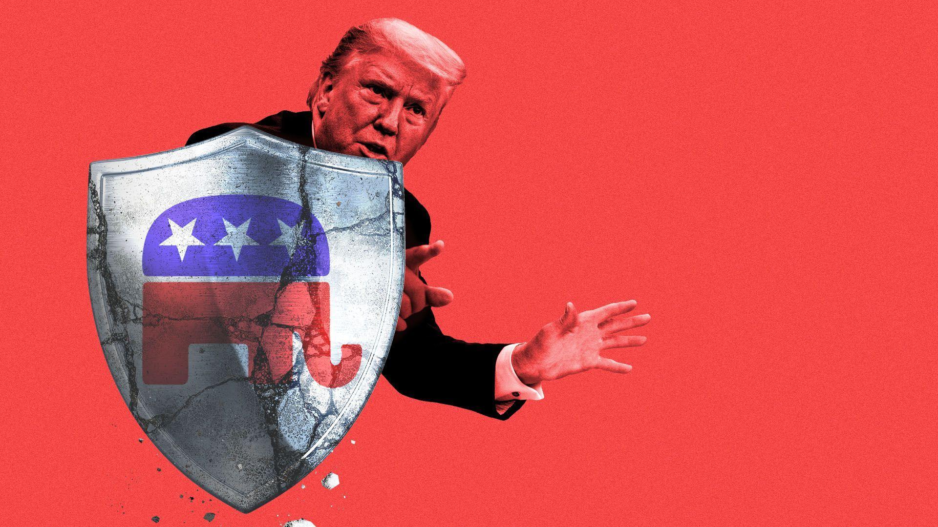 The cracks in Trump's GOP shield