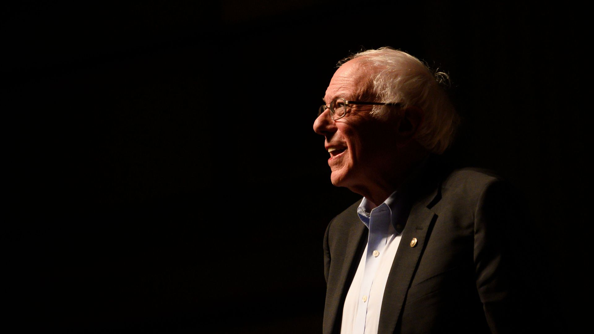 Bernie Sanders in Ames, Iowa, on Jan. 25