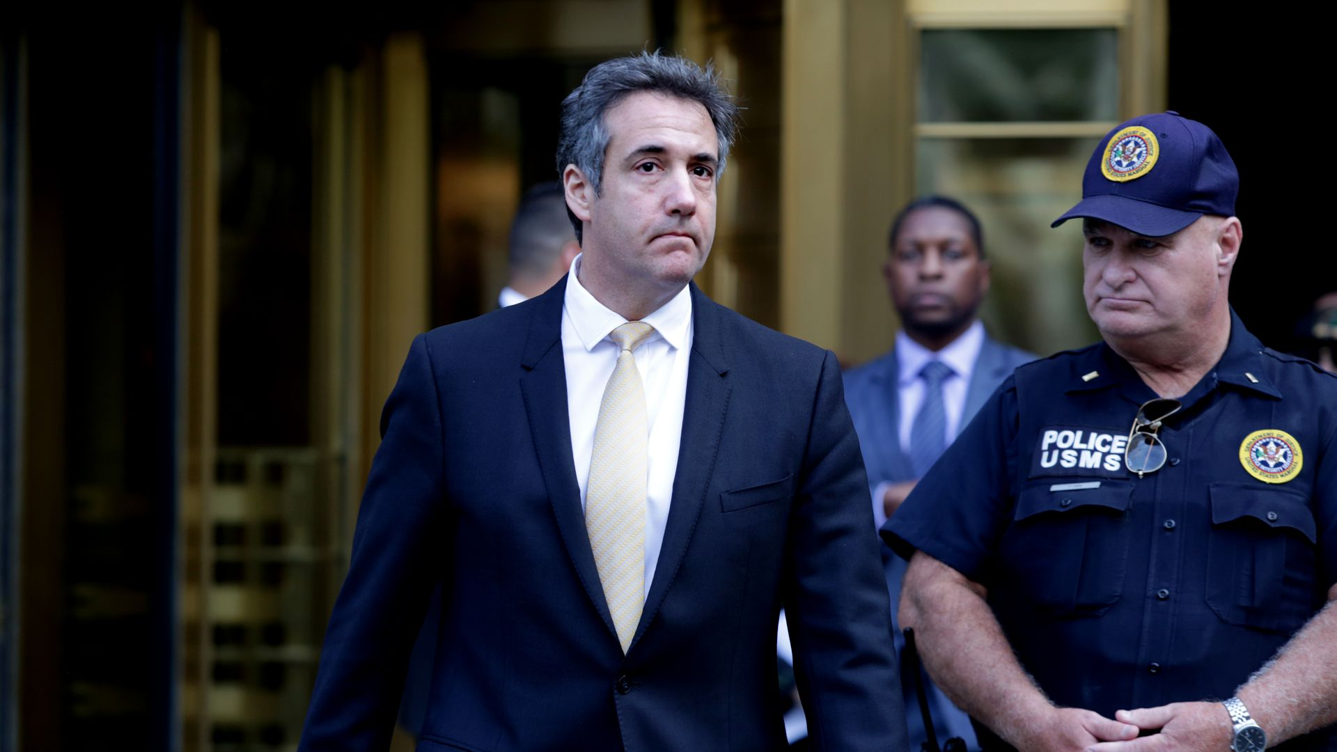 Michael Cohen, former lawyer to President Donald Trump, exits the Federal Courthouse in New York City on Tuesday. Photo: Yana Paskova/Getty Images