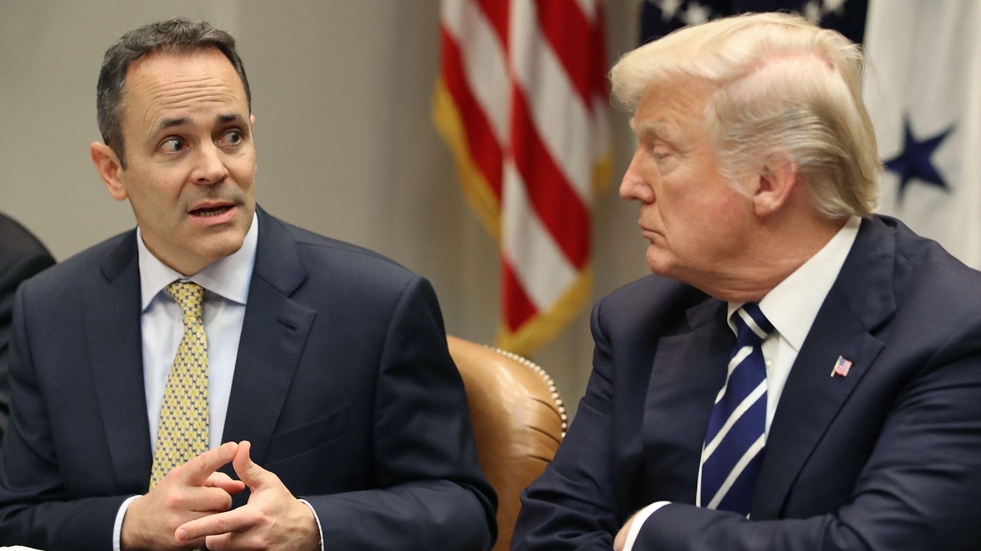 Kentucky Gov. Matt Bevin with President Trump
