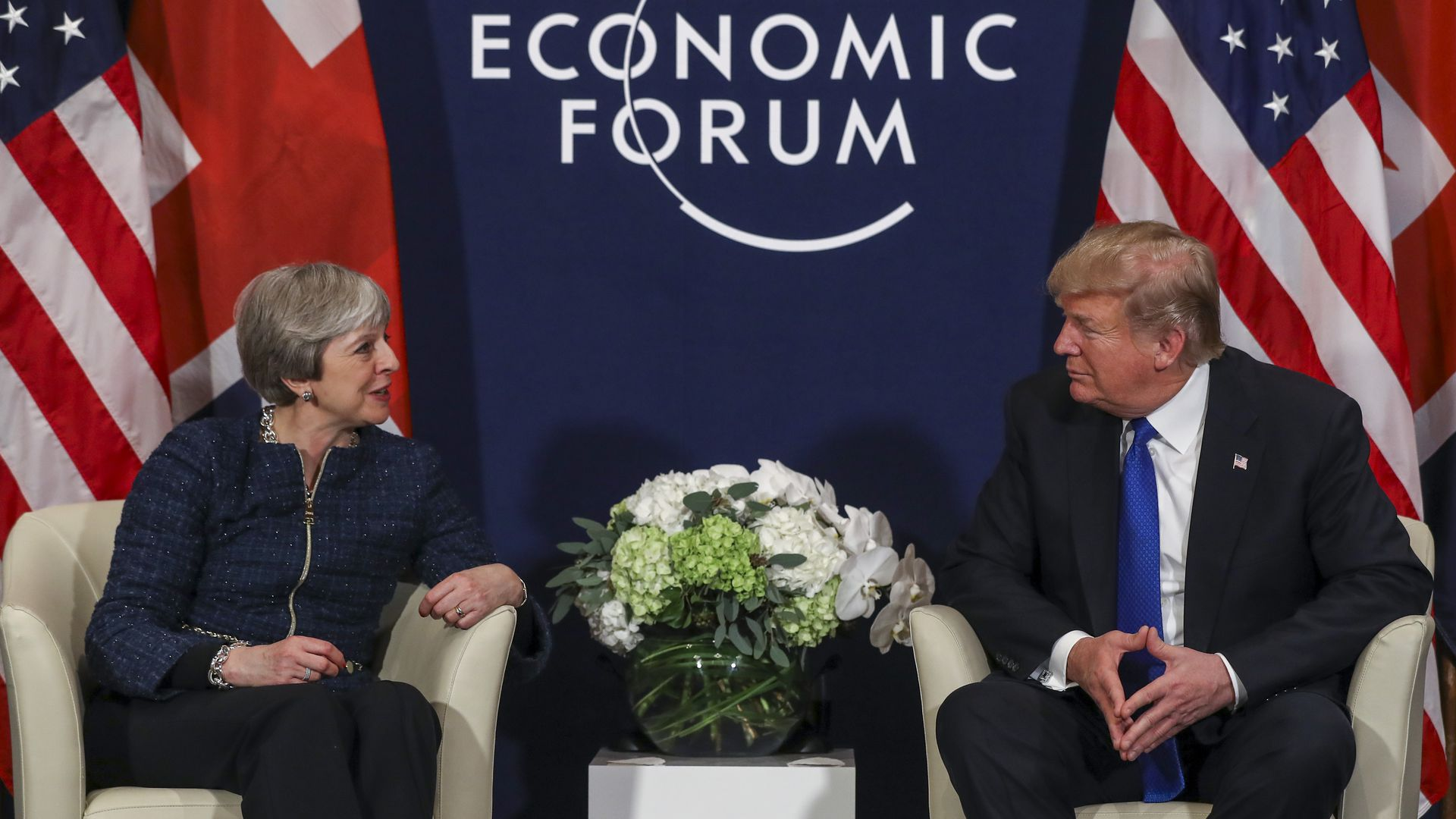 May speaks with Trump