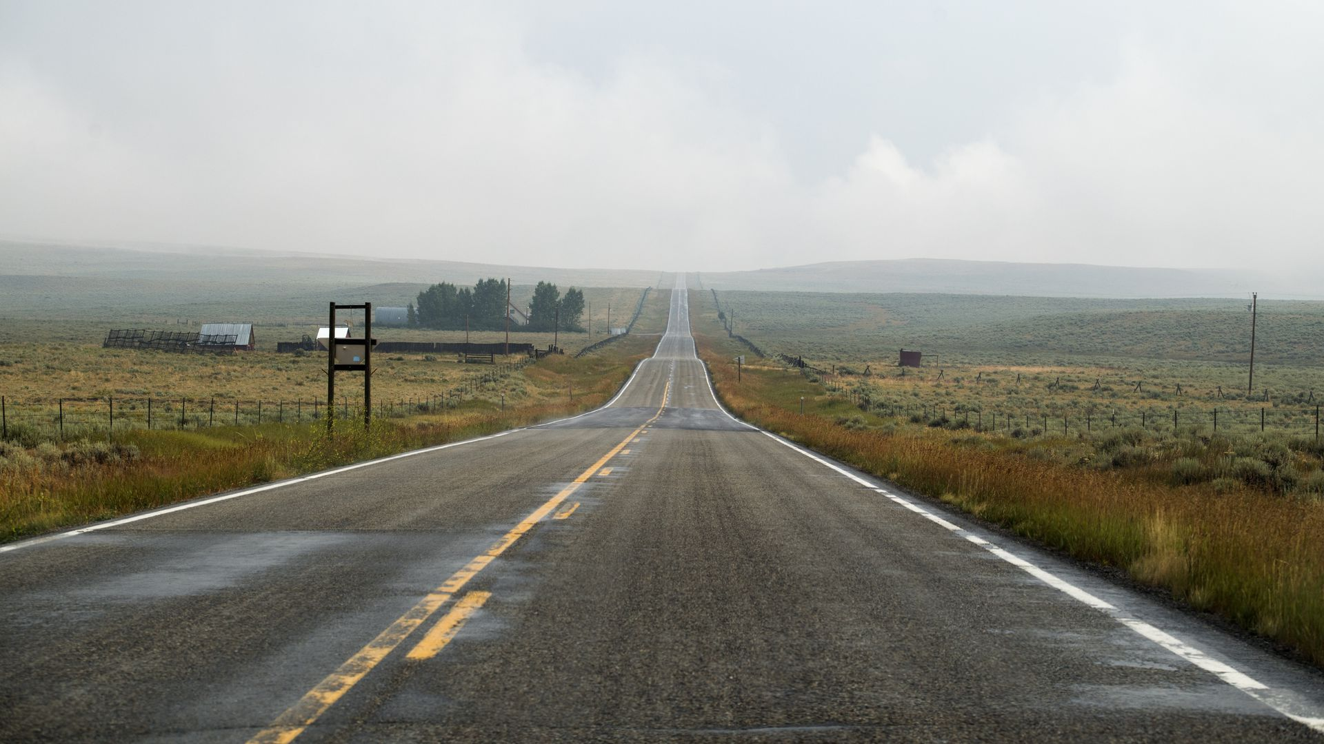 Stretch of highway in Montana
