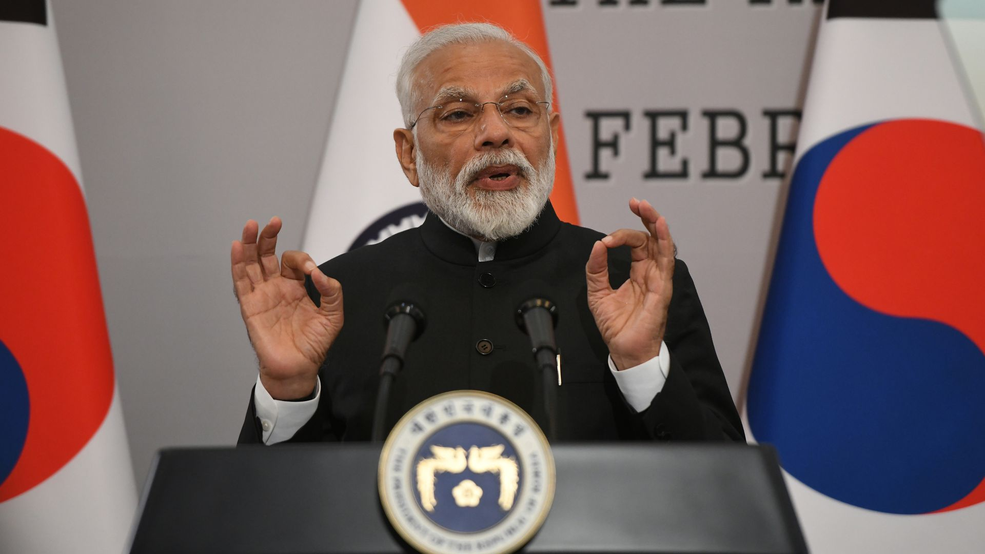 India's Prime Minister Narendra Modi says the country has shot down a satellite in space.