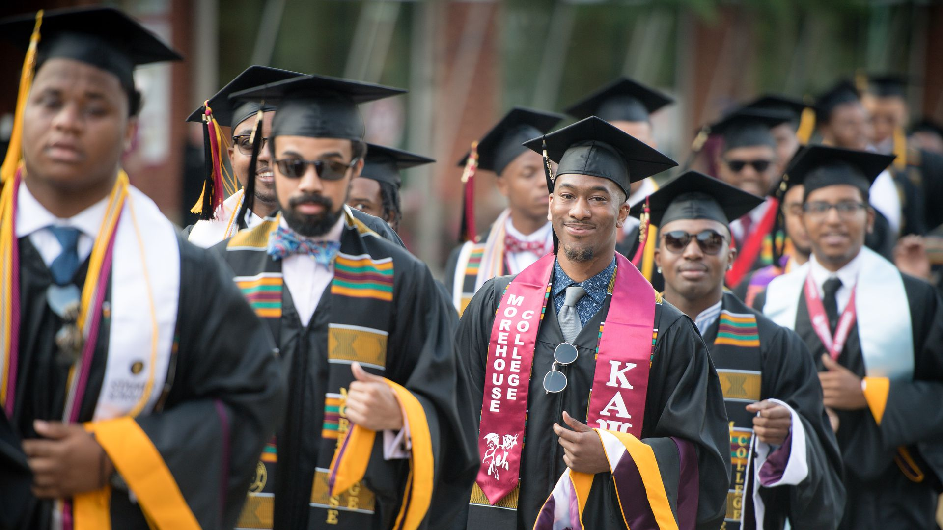 Morehouse College students at 2019 commencement.
