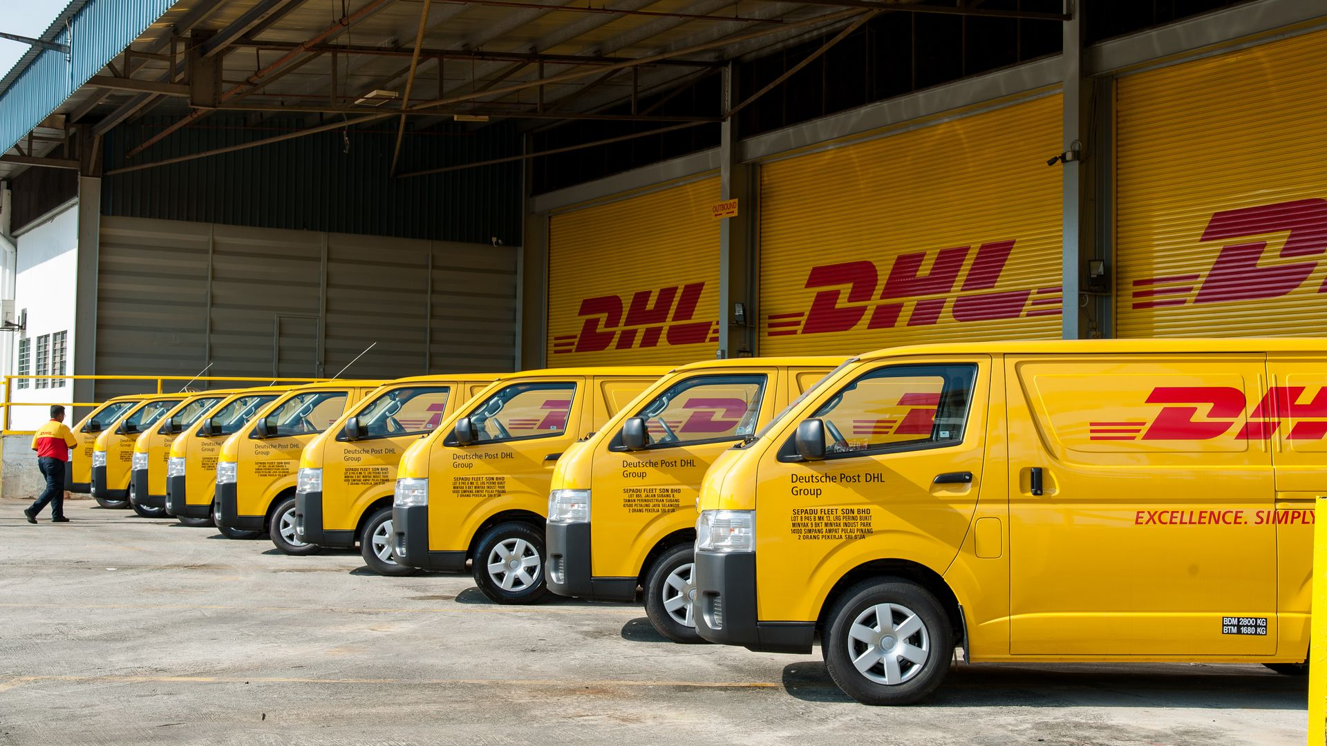 DHL delivery vans in Malaysia