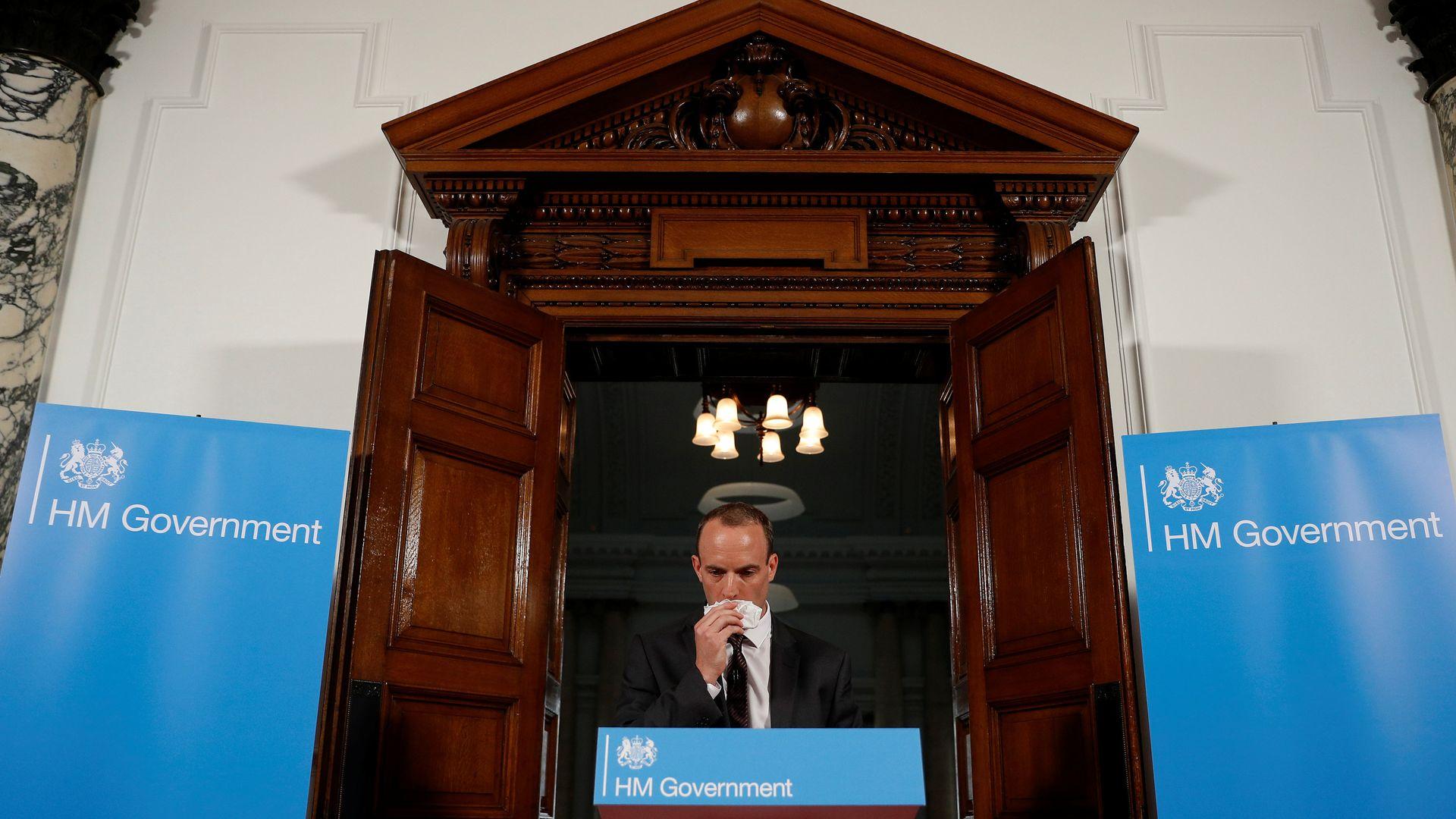 Brexit Secretary Dominic Raab. Photo: Peter Nicholls/AFP/Getty Images
