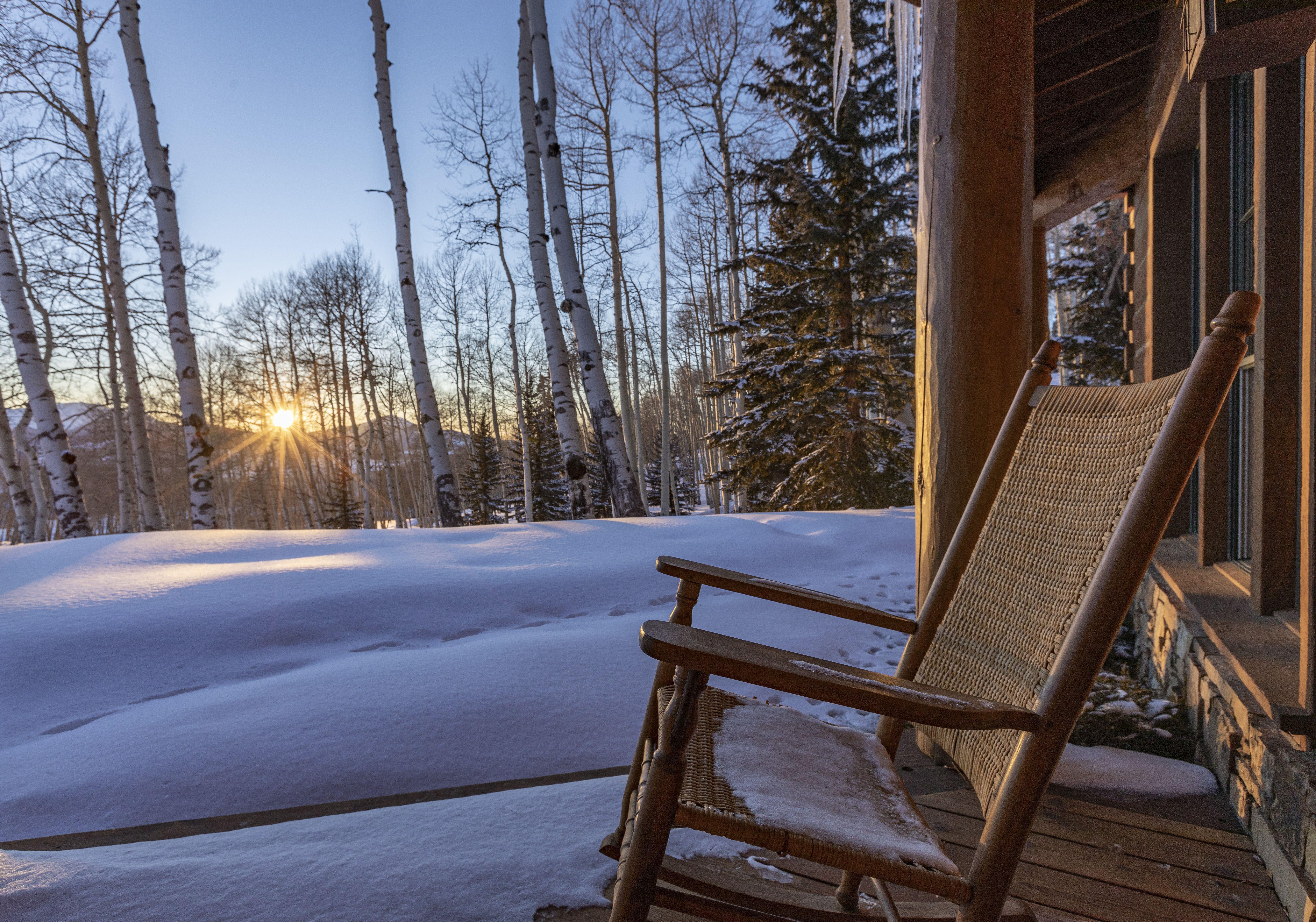 Tom Cruise's Telluride Ranch rocking chair