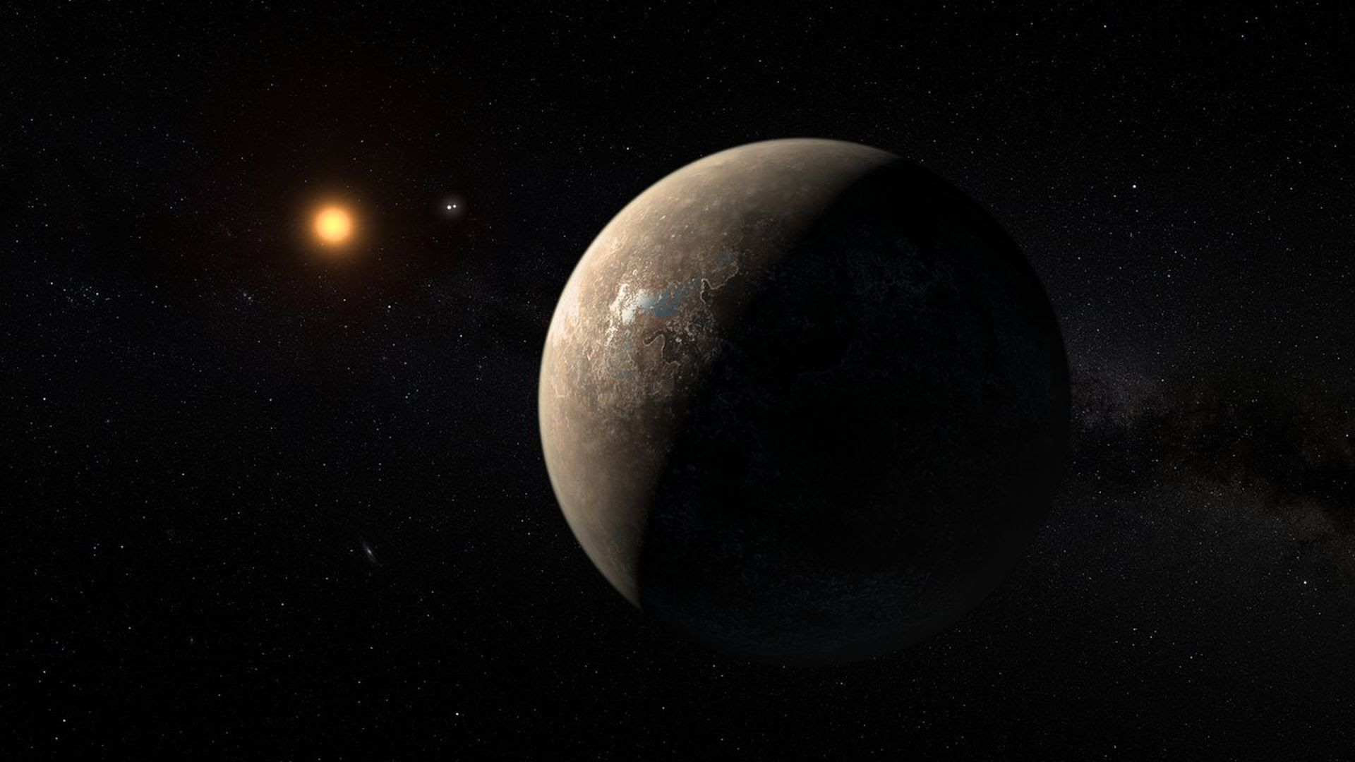 Artist's impression of Proxima-b orbiting its star. Photo: ESO/M. Kornmesser