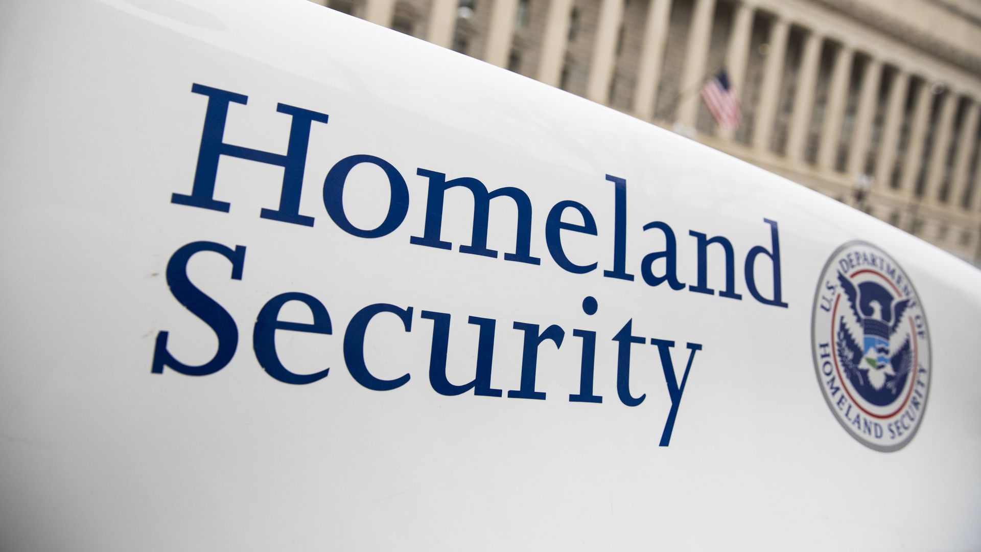 Homeland security department logo.
