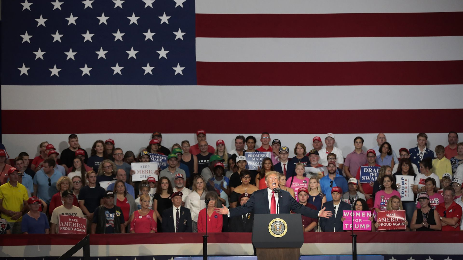 President Trump at a rally.