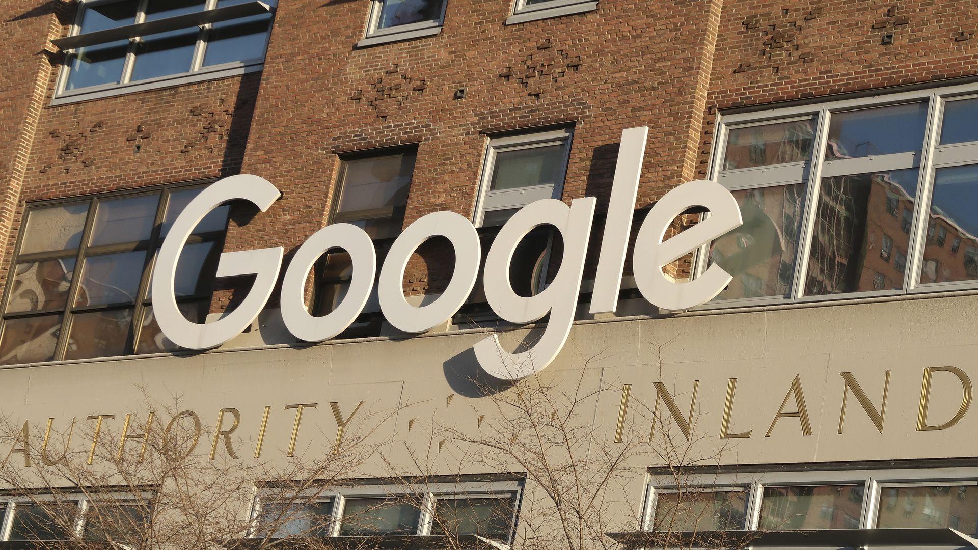 A Google sign