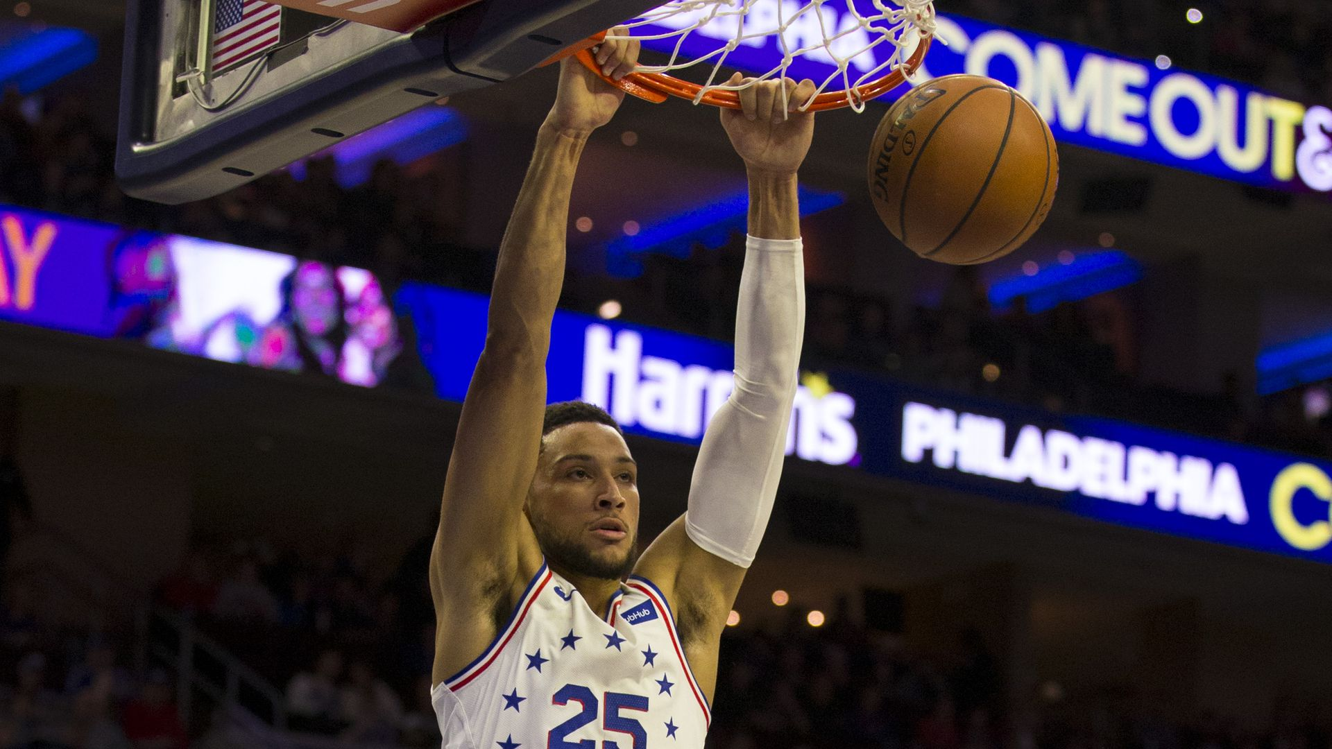 """Ben Simmons wore """"egg boy"""" on his shoes during a game."""