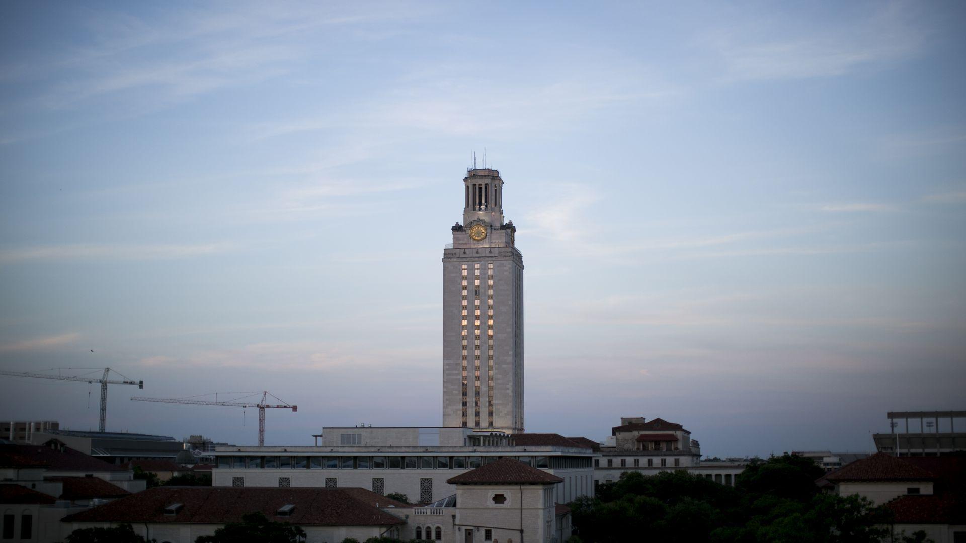 The University of Texas at Austin clocktower.