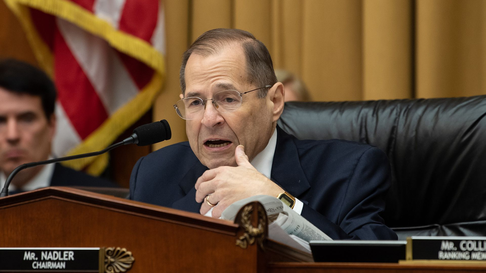 Jerry Nadler speaks during a markup of a resolution supporting the committee report on Attorney General William Barr's failure to produce the unredacted Mueller report.
