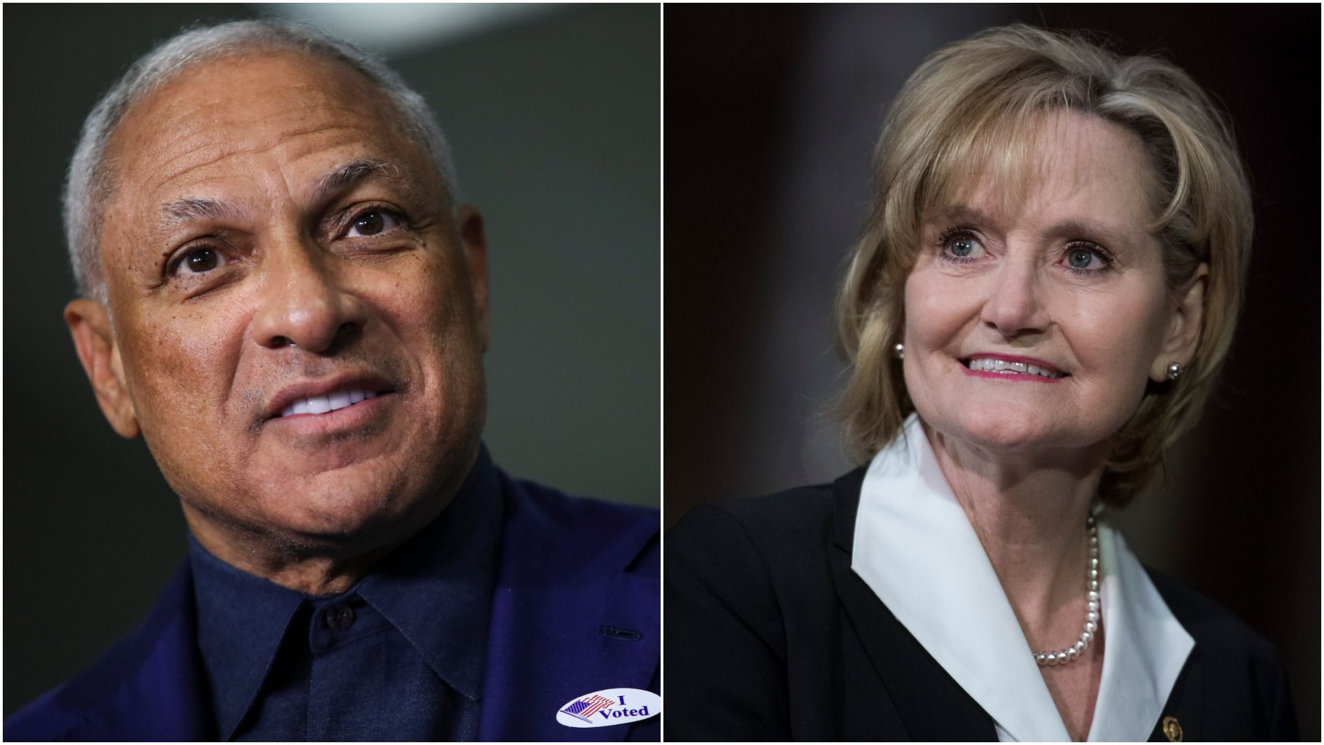 Democratic candidate Mike Espy and Sen. Cindy Hyde-Smith (R-Miss.)