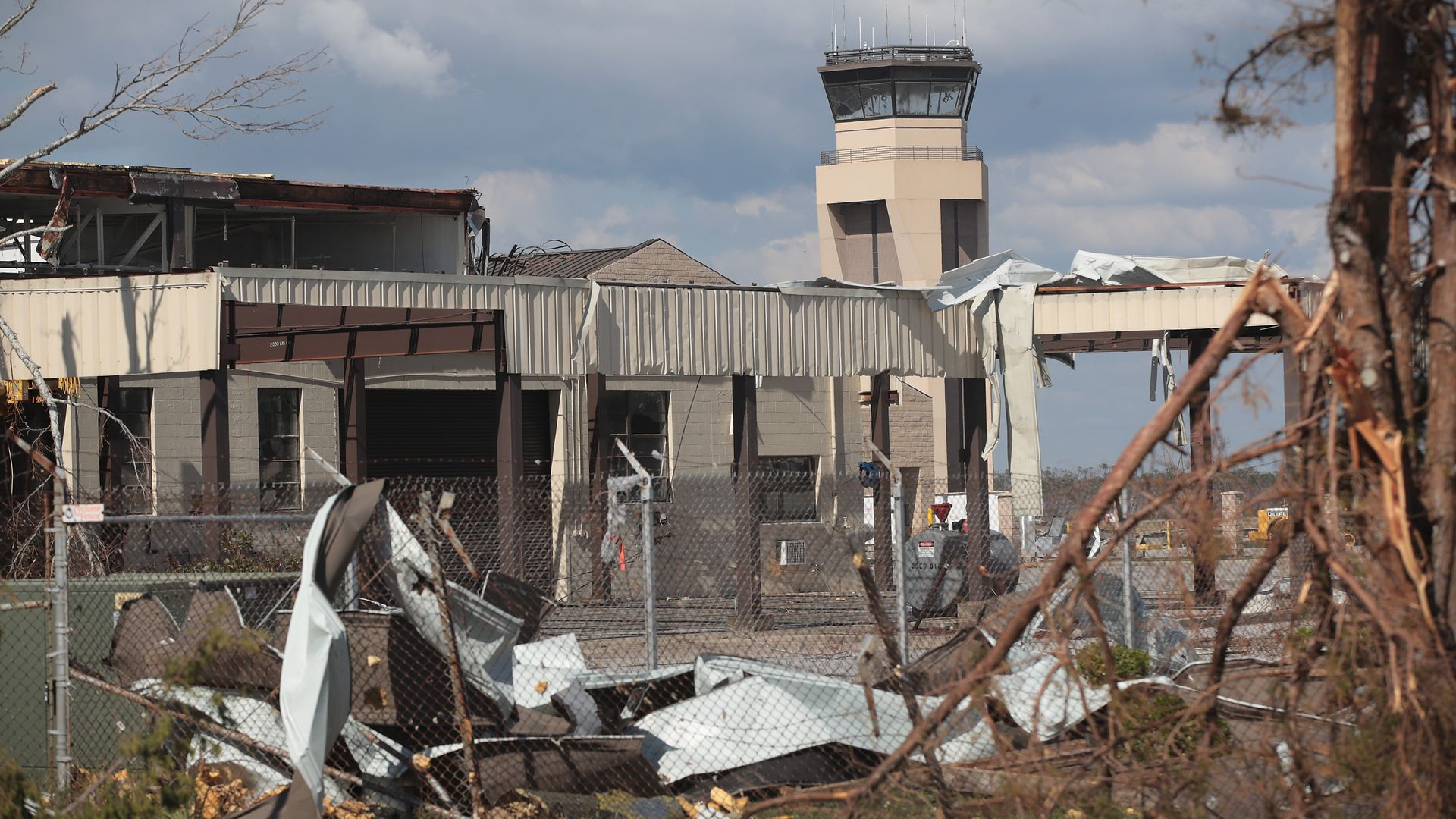 Tyndall Air Force Base is destroyed after Hurricane Michael