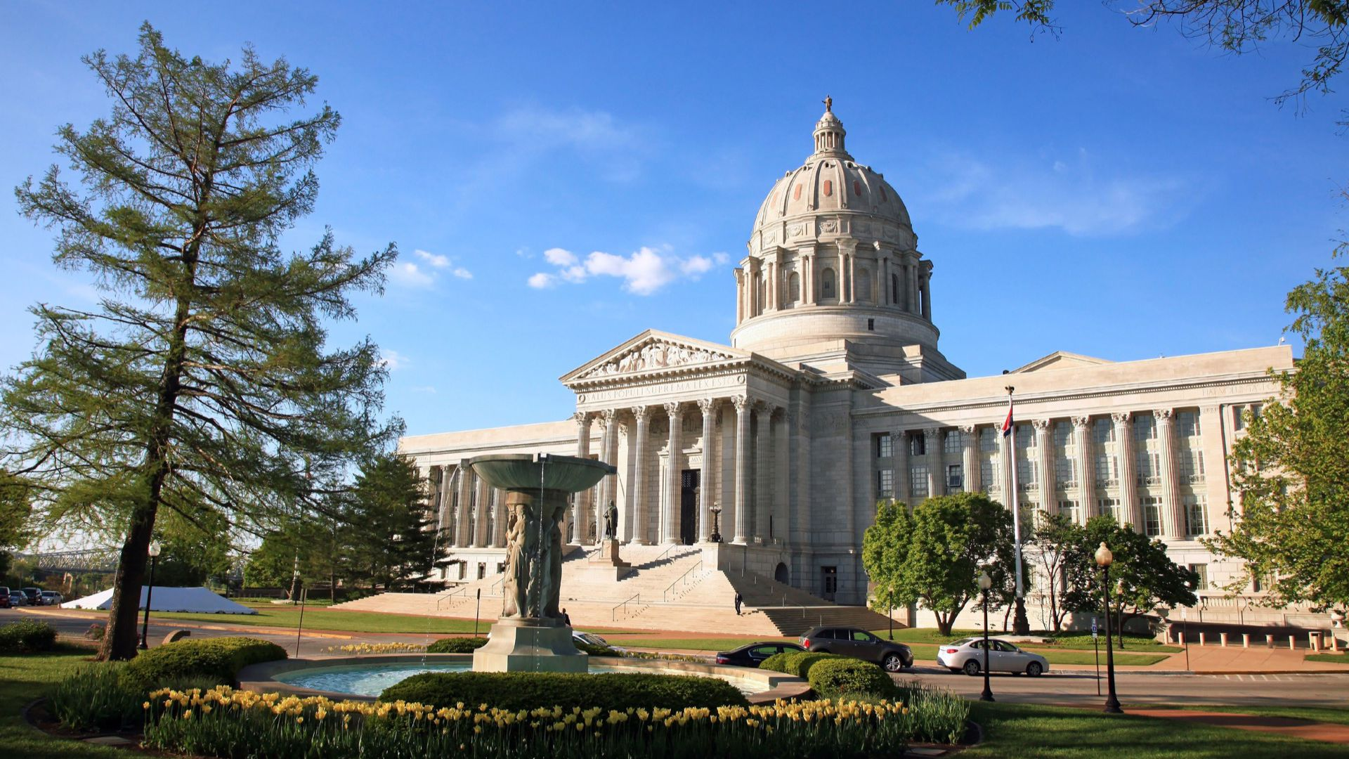 The Missouri state capitol building