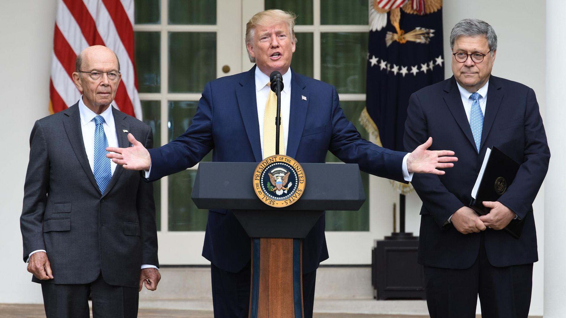 Wilbur Ross President Trump and Bill Barr