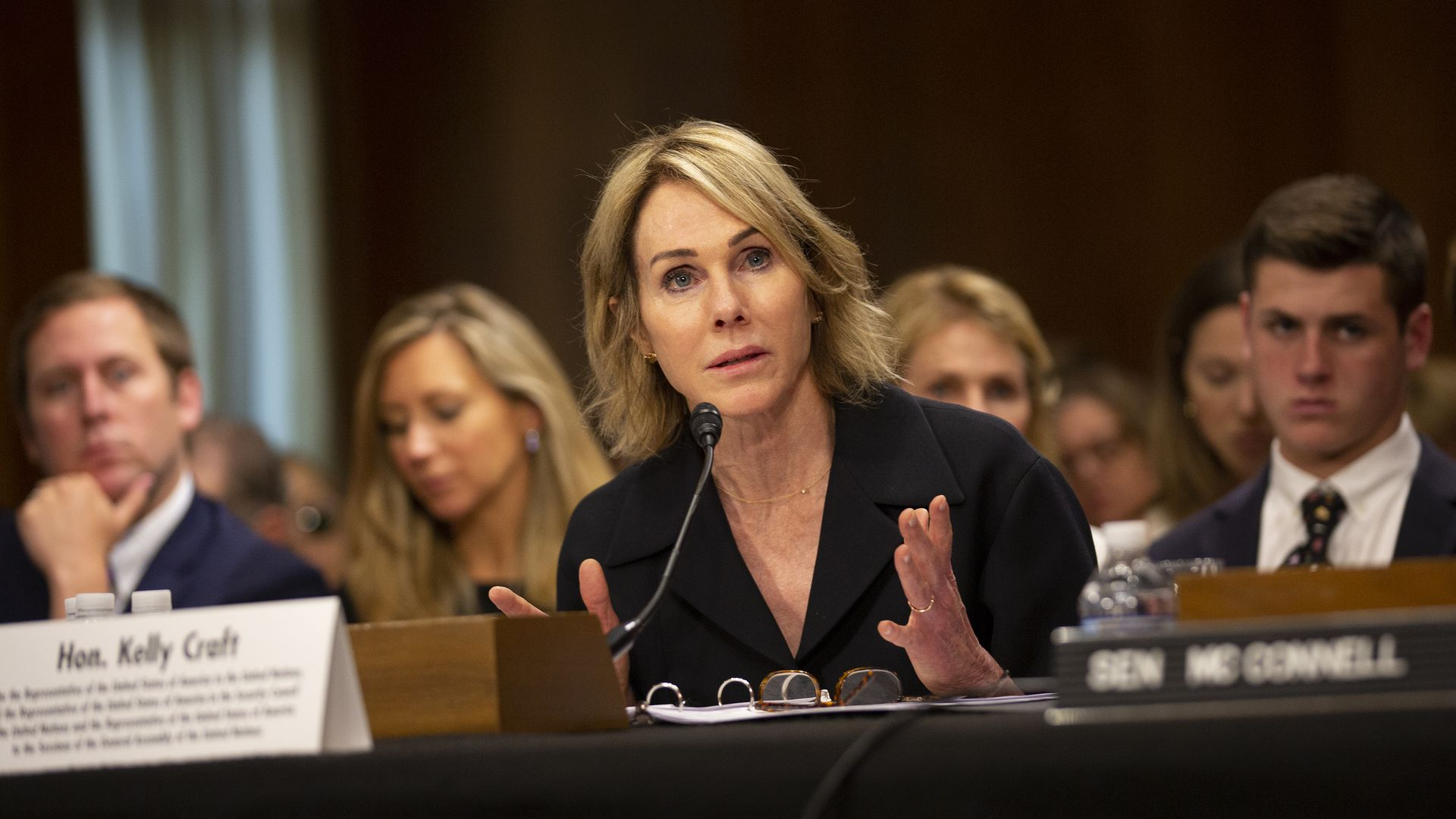 Kelly Craft testifies at her nomination hearing before the Senate Foreign Relations Committee