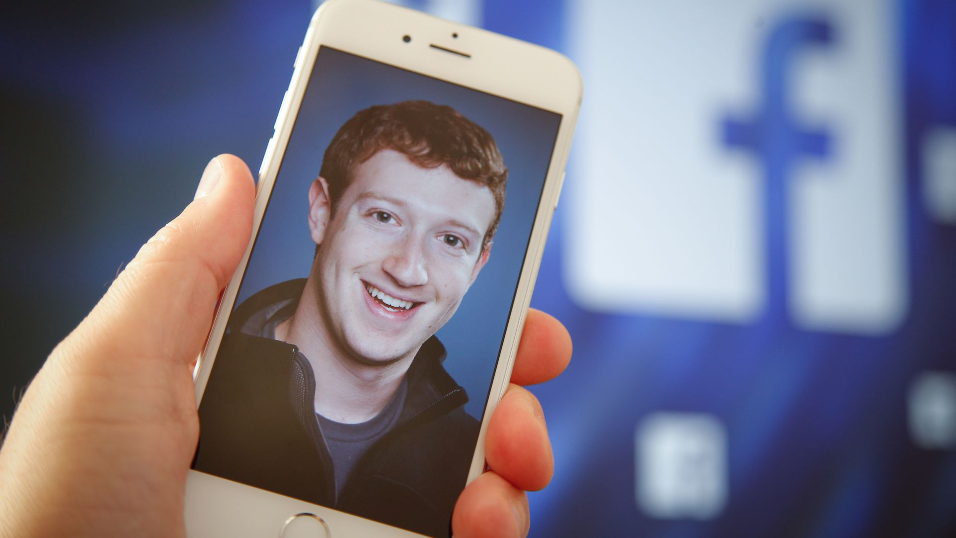 A portrait of Facebook founder Mark Zuckerberg