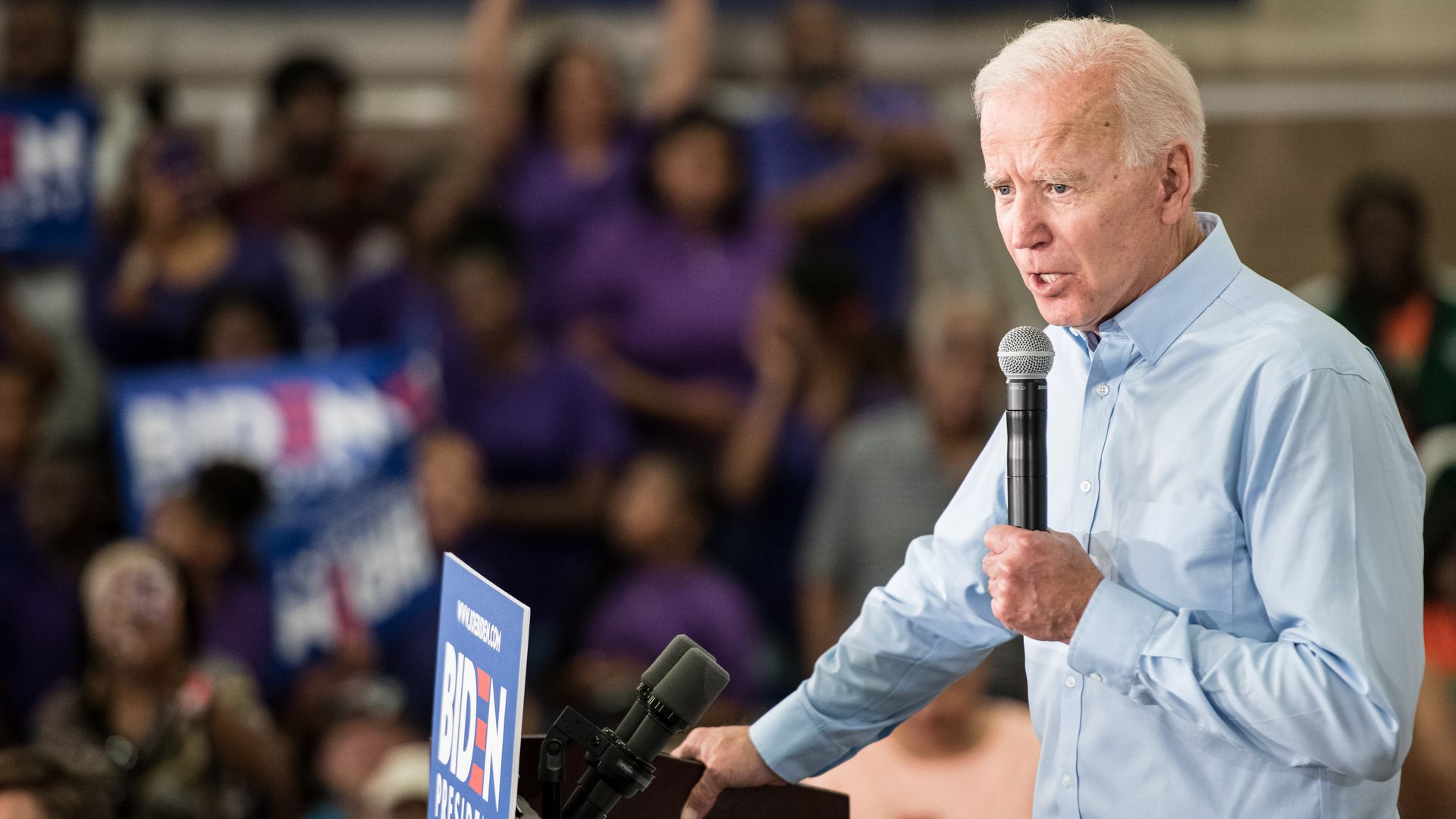 Former Vice President Joe Biden says Jim Crow laws are creeping back in.