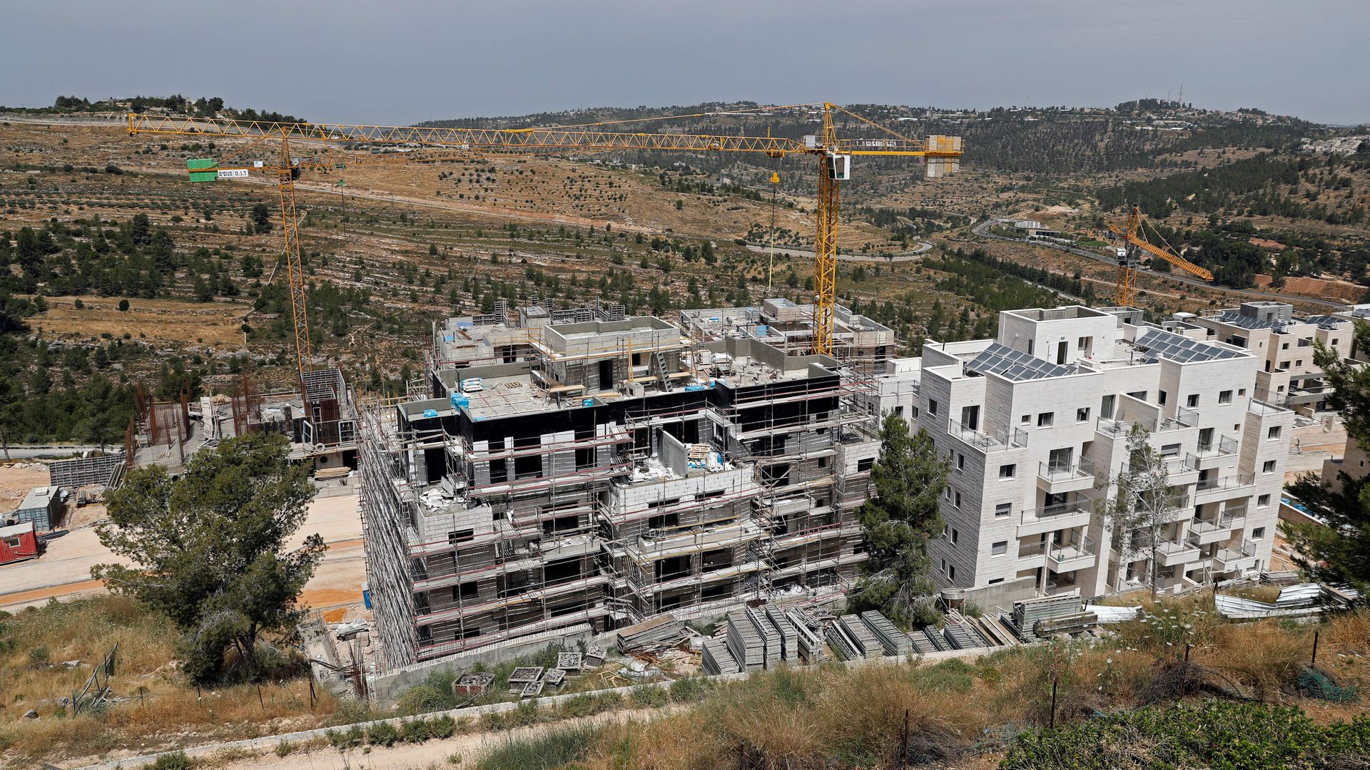 Israeli settlement being built in the West Bank
