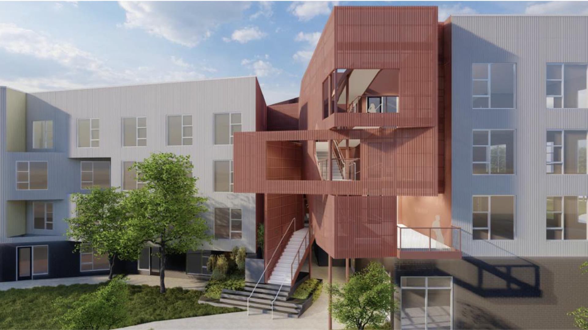 rendering of SOMO lofts