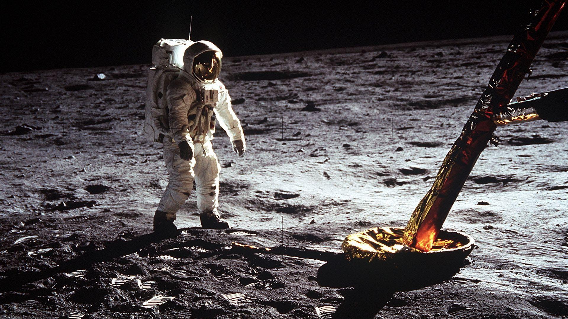 Buzz Aldrin on the surface of the moon during Apollo 11. Photo: NASA