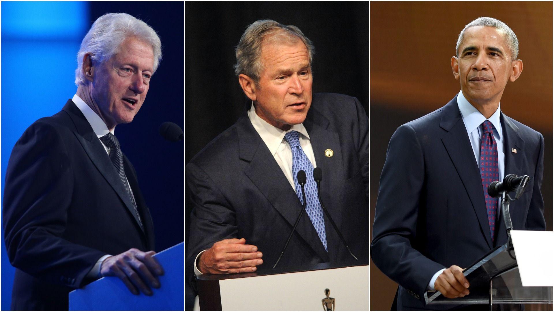 Former Presidents Bill Clinton,  George W. Bush and Barack Obama