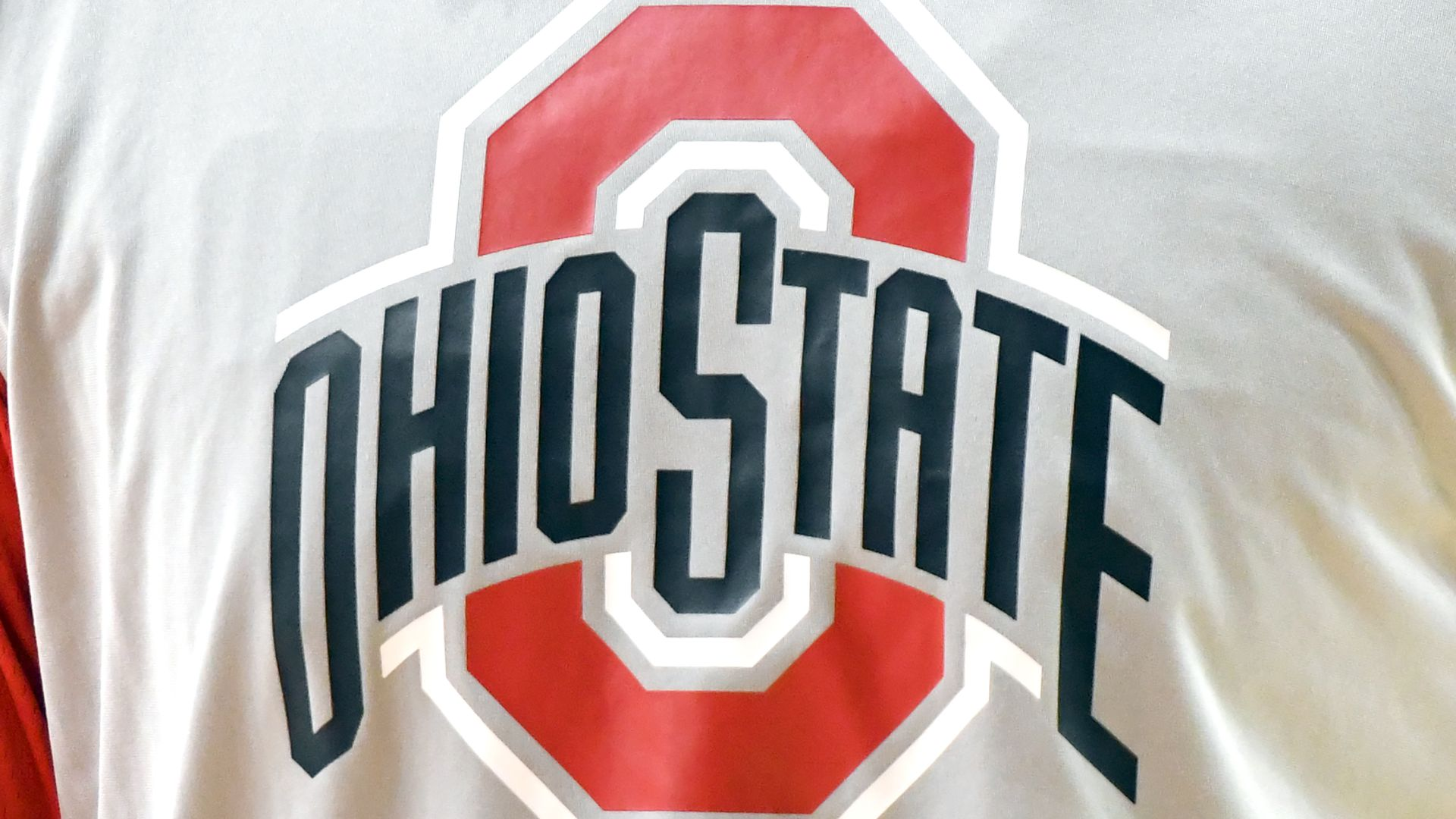 In this image, a T-Shirt displays the Ohio State logo.