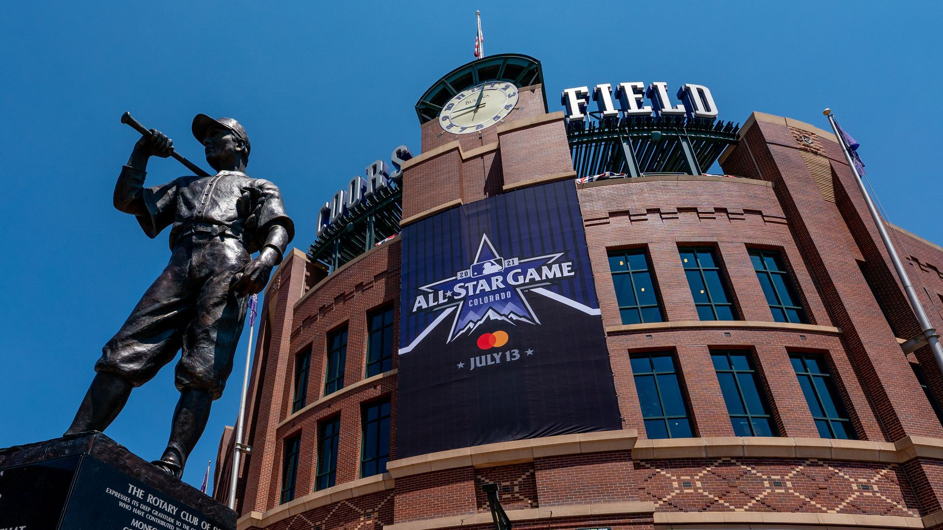 The exterior of Coors Field