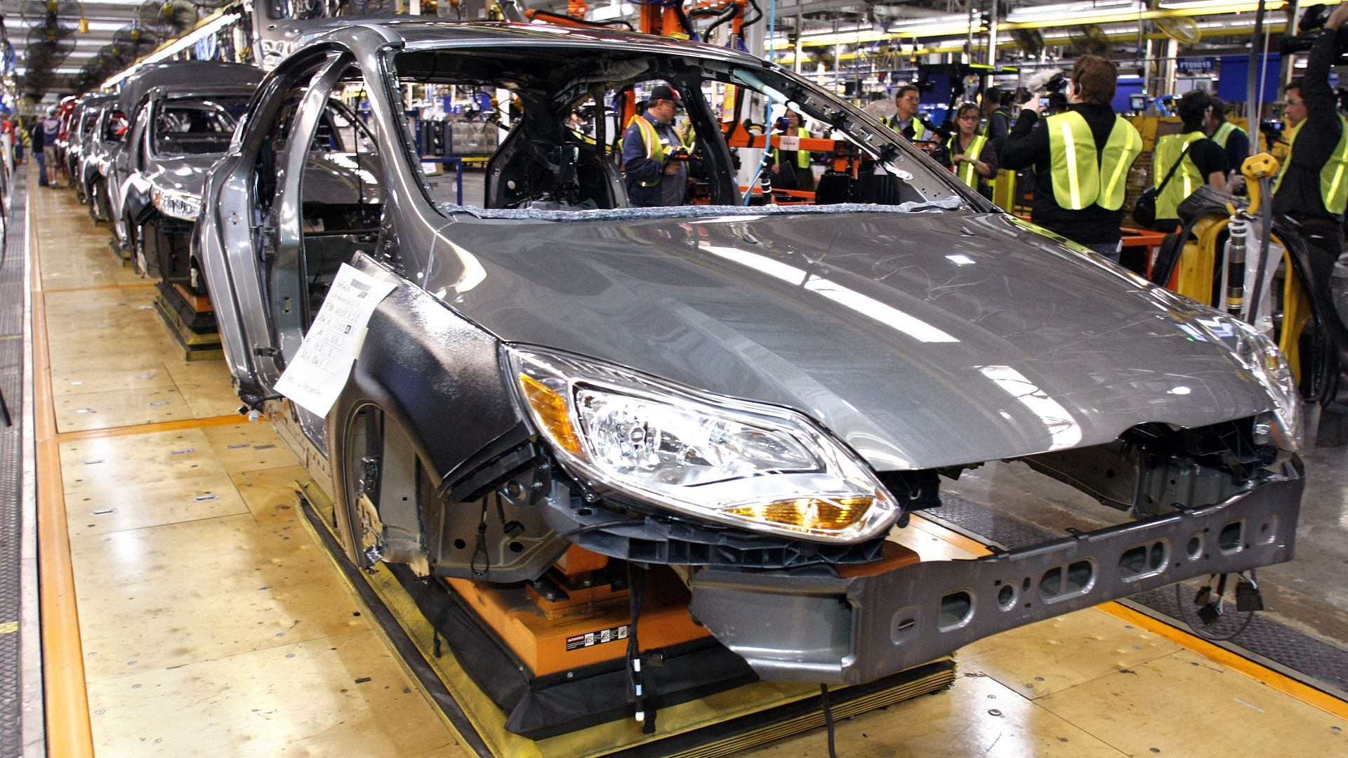 Ford manufacturing plant for electric and hybrid vehicles in Michigan
