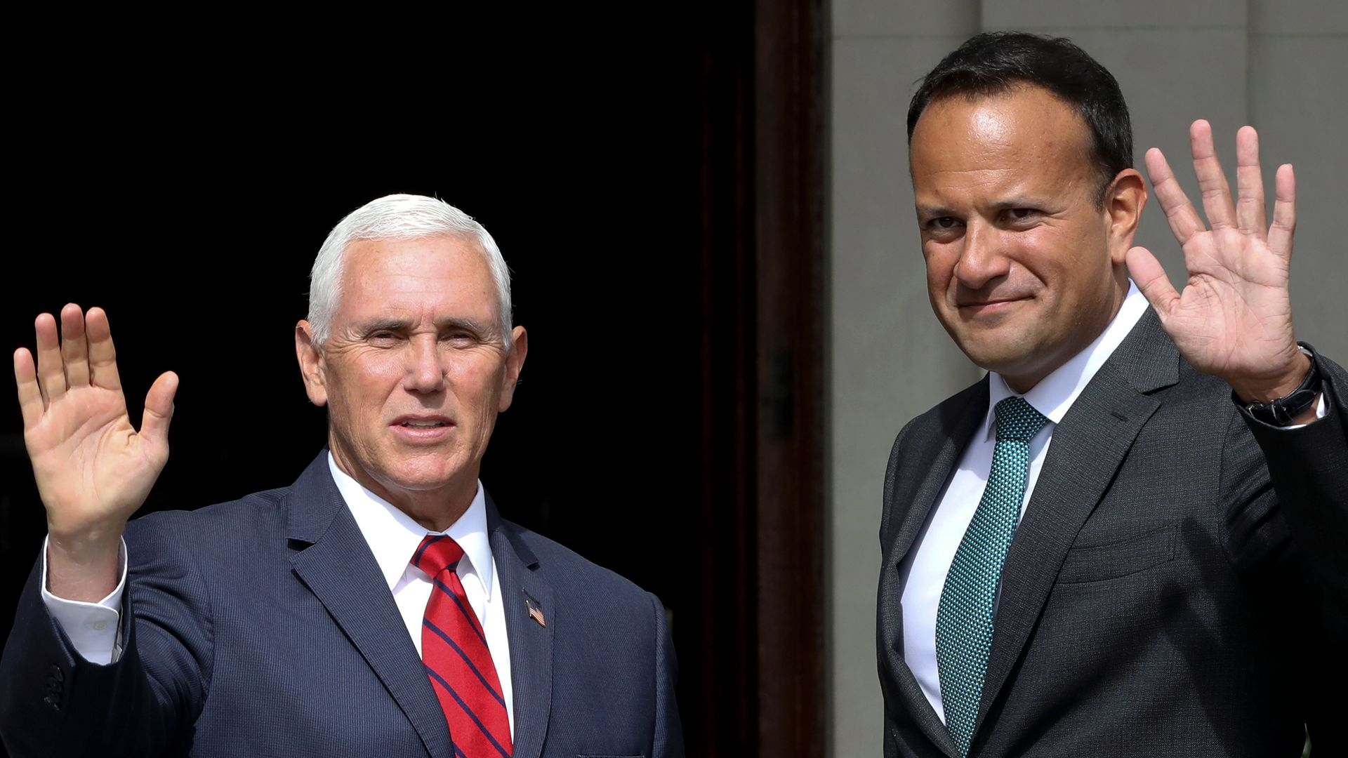 American Vice President Mike Pence meeting with Irish Prime Minister Leo Varadkar in Dublin.