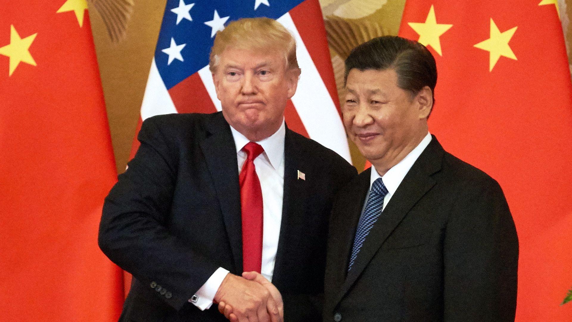 Trump and Xi Jingping.