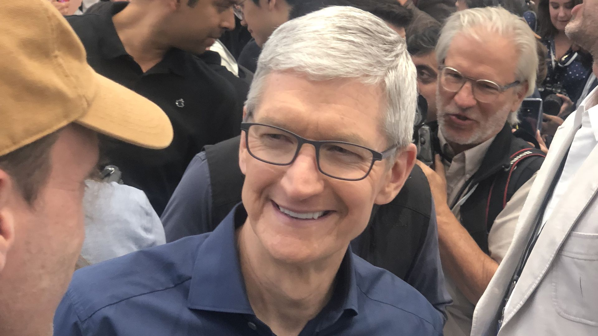Apple CEO Tim Cook at the iPhone Xs launch event